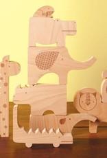 Petit Collage Jouet de bois - Safari - 3+