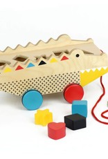 Petit Collage Shape Sorter Pull Toy - Alligator 18m+