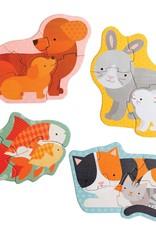 Petit Collage Puzzle - Pet Baby animals 2+