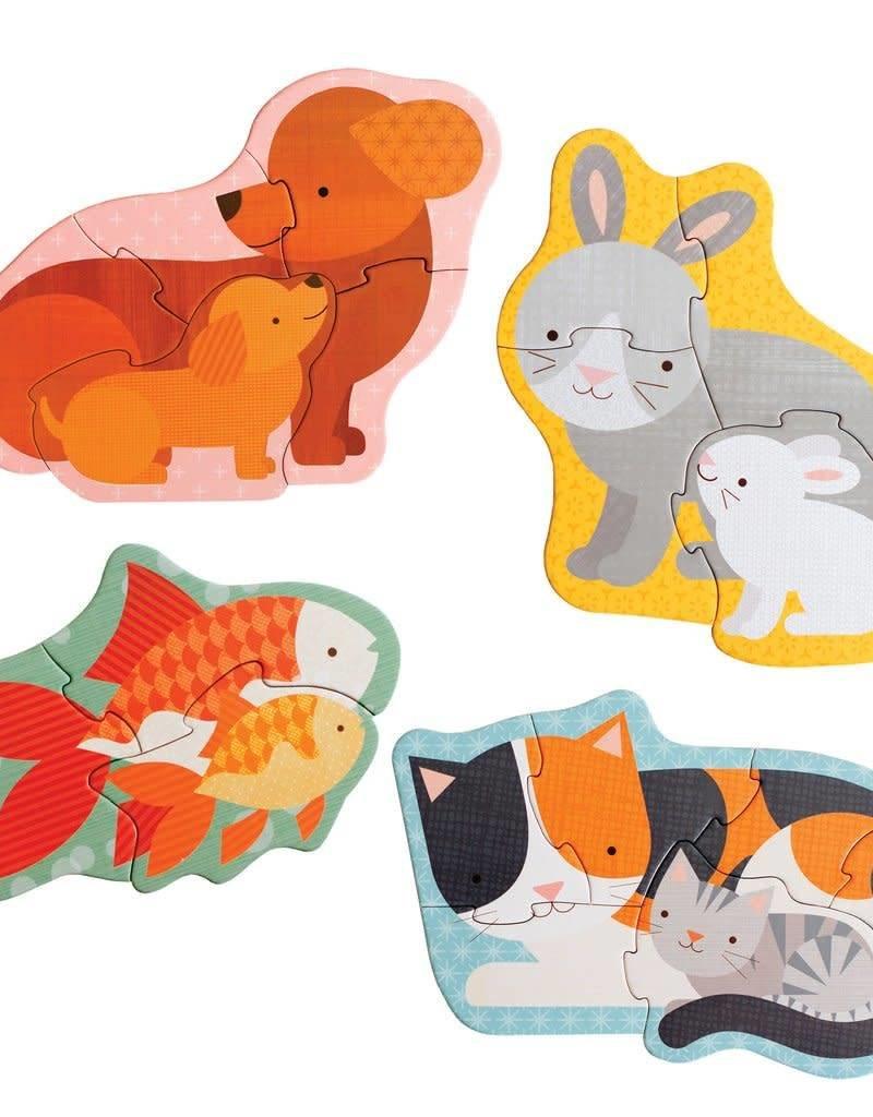 Petit Collage CCasse-tête - Maman et Bébé Animaux 2+