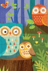 Petit Collage Puzzle Tin & Coin Bank - Owl 4+