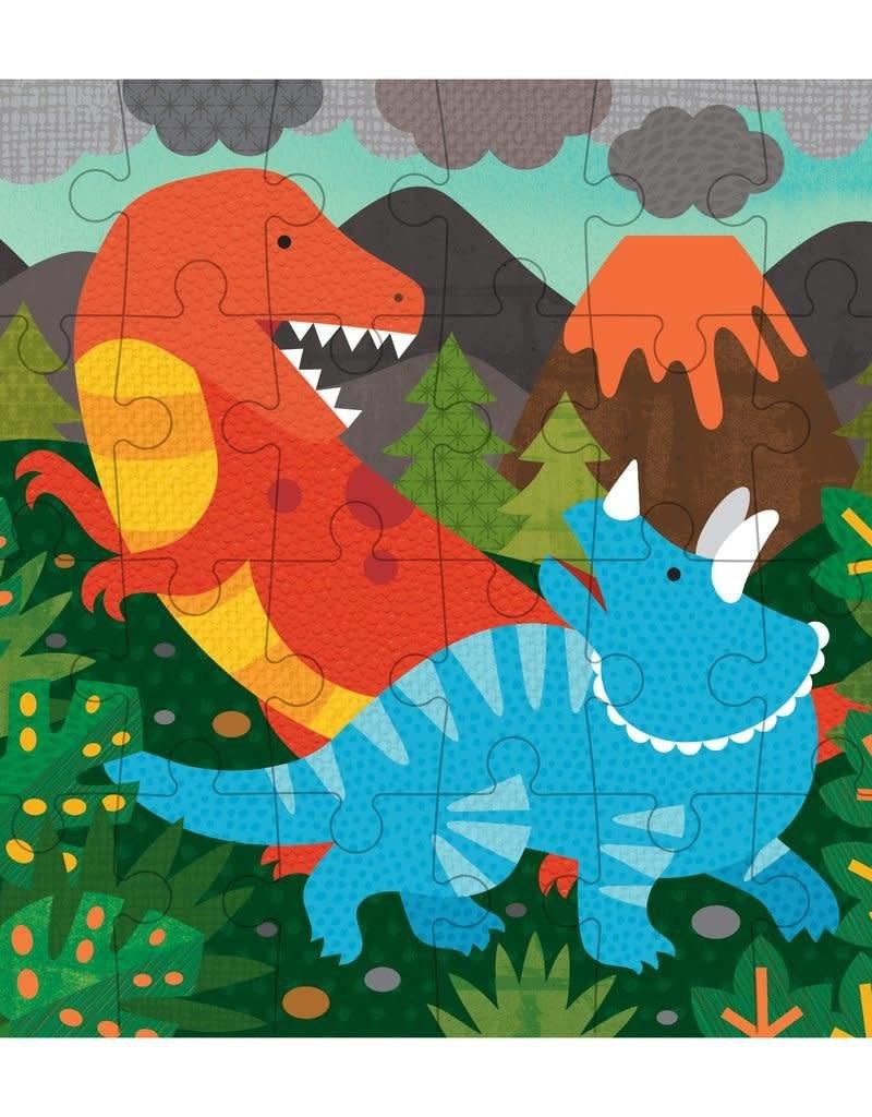 Petit Collage Casse-tête - Mini-Boîte Dinosaures 4+