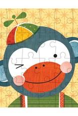 Petit Collage Casse-tête - Mini-Boîte Singe 4+