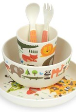 Petit Collage The World - Bamboo Mealtime Set 3+