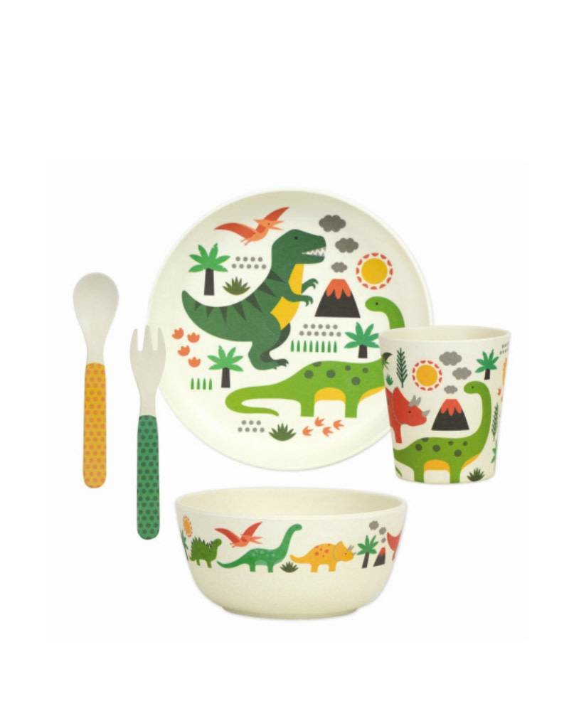 Petit Collage Dinosaurs - Bamboo Mealtime Set 3+