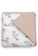 Olé Hop Minky Blanket - Shrimp - Elise Gravel