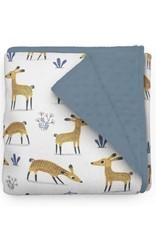 Ole Hop Minky Blanket Deer Elise Gravel