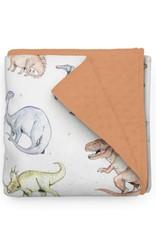 Olé Hop Minky Blanket - Dinosaures - Minky ORANGE