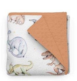 Olé Hop Minky Blanket - Dinosaures - Minky PURPLE