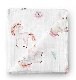 Olé Hop Bamboo blanket - Unicorn
