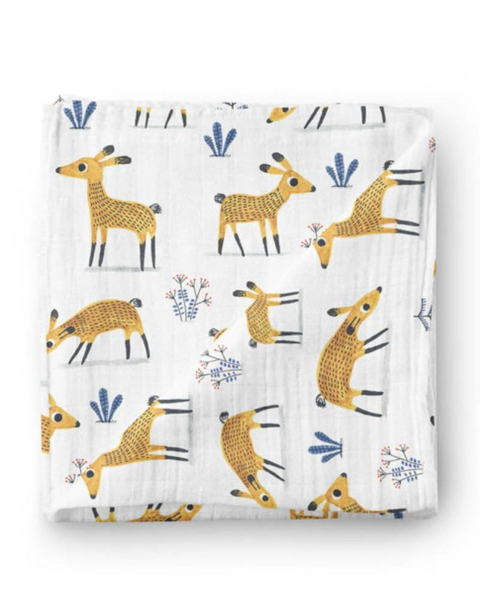 Olé Hop Bamboo blanket - Deer - Elise Gravel