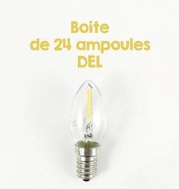 Box of 24 DEL bulbs