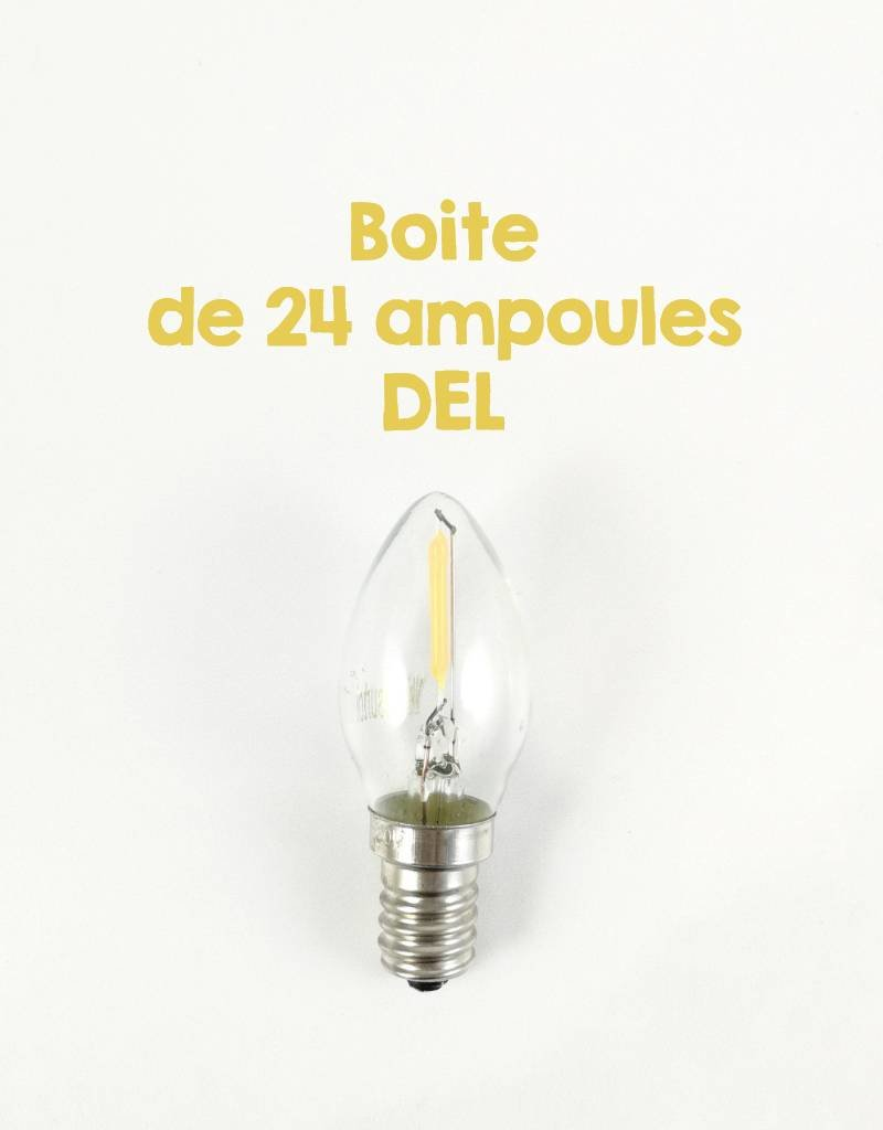 Box of 24 DEL bulbs