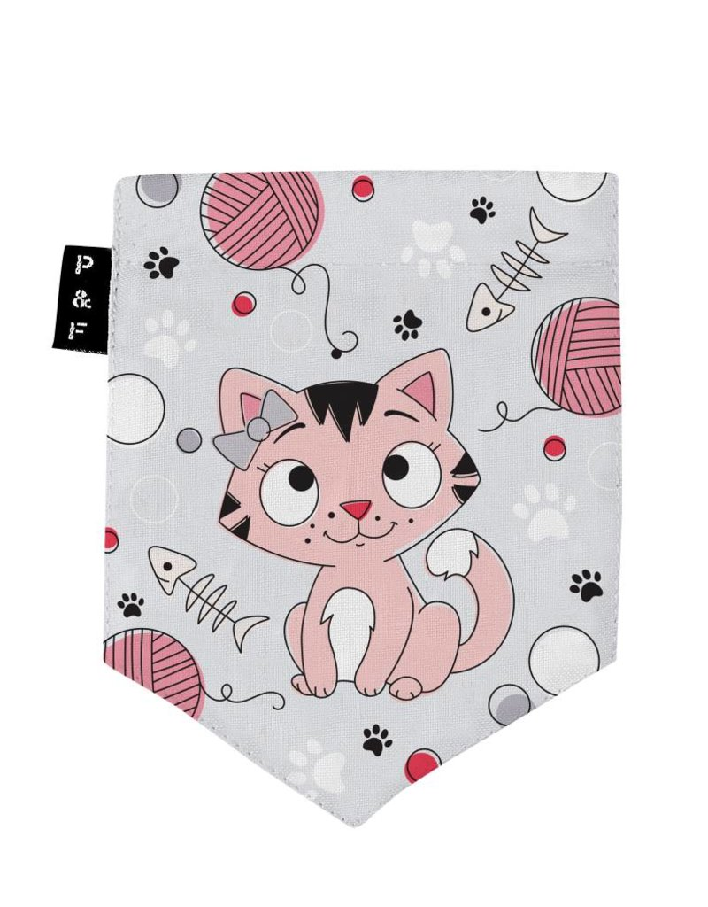 Poches & Fils Kid round-neck - Pocket Cat Charlotte