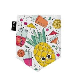 Poches & Fils Woman V-Neck - Pocket Pineapple Eduardo