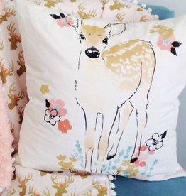 Le Grenier de Juliette Cushion cover - Deer with flower