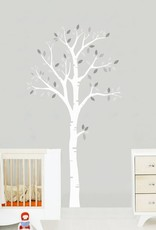 Veille sur toi Wall decal - White tree