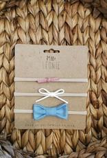 Mlle Léonie 3 headband - Pink / White / Blue buckle