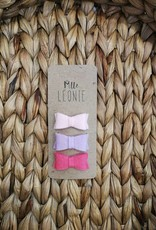 Mlle Léonie 3 Felt Buckle - Light Pink / Purple / Pink Buckle
