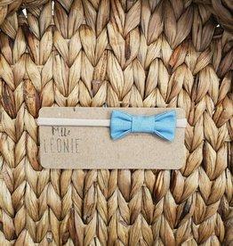 Mlle Léonie bow tie headband - blue