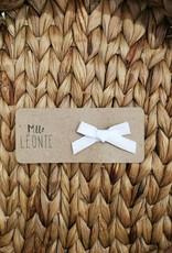 Mlle Léonie individual hair clip - White Buckle
