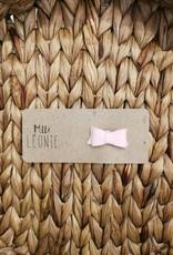 Mlle Léonie individual hair clip - Pink Felt Buckle