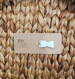 Mlle Léonie individual hair clip - Mint Buckle Felt