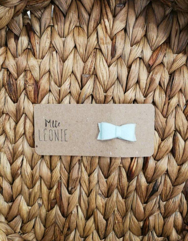 Mlle Léonie Barrette individuelle - Boucle Menthe Feutrine