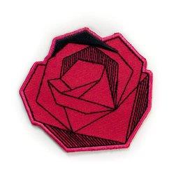 Tattoo It Écusson autocollant - Rose rouge géométrique