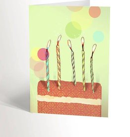 Valérie Boivin Illustrations Greeting Card - Birthday cake