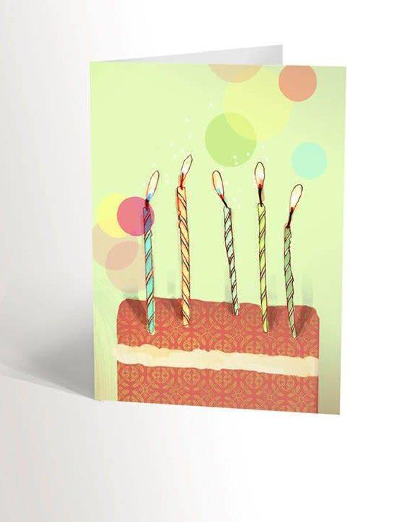 Valérie Boivin Illustrations Greeting Card - Birthday cake
