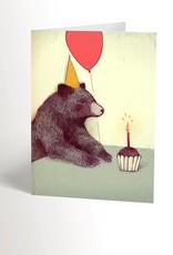 Valérie Boivin Illustrations Carte de souhaits - Ours ballon de fête