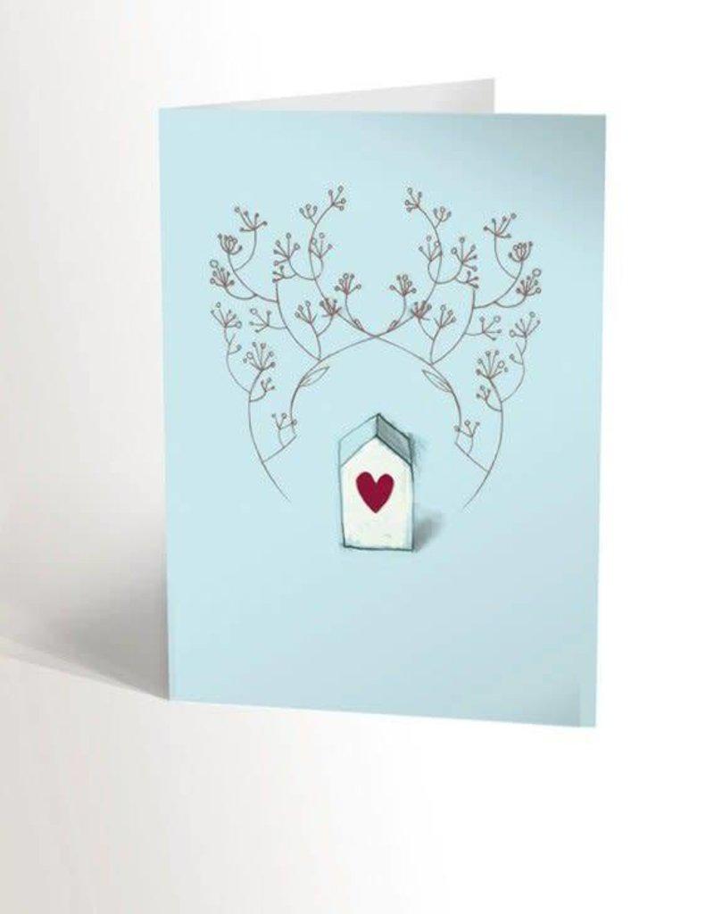 Valérie Boivin Illustrations Carte de souhaits - Maison