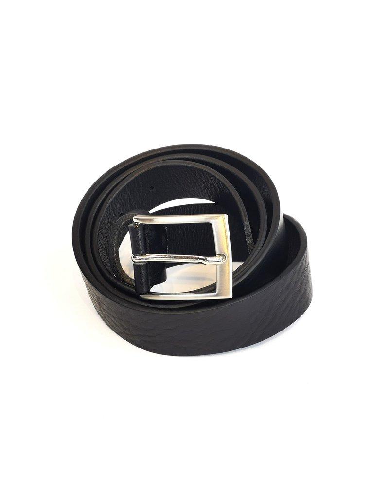 Nobleman&Fils Ceinture noir 3cm
