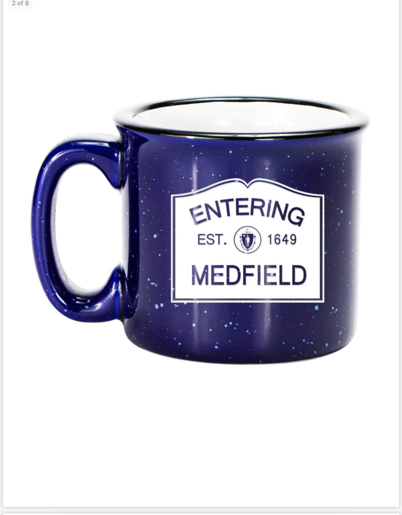 Entering Medfield 1649 Camp Mug - Cobalt