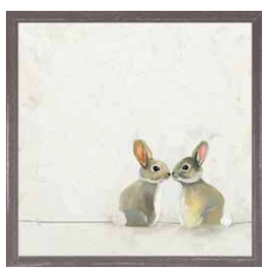 "Greenbox Art Greenbox Art - Framed Art 6"" x 6"" Baby Bunnies"