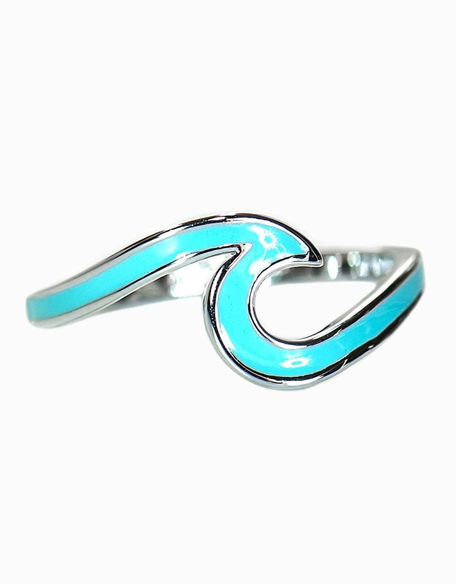 Puravida Puravida - Enameled Wave Ring