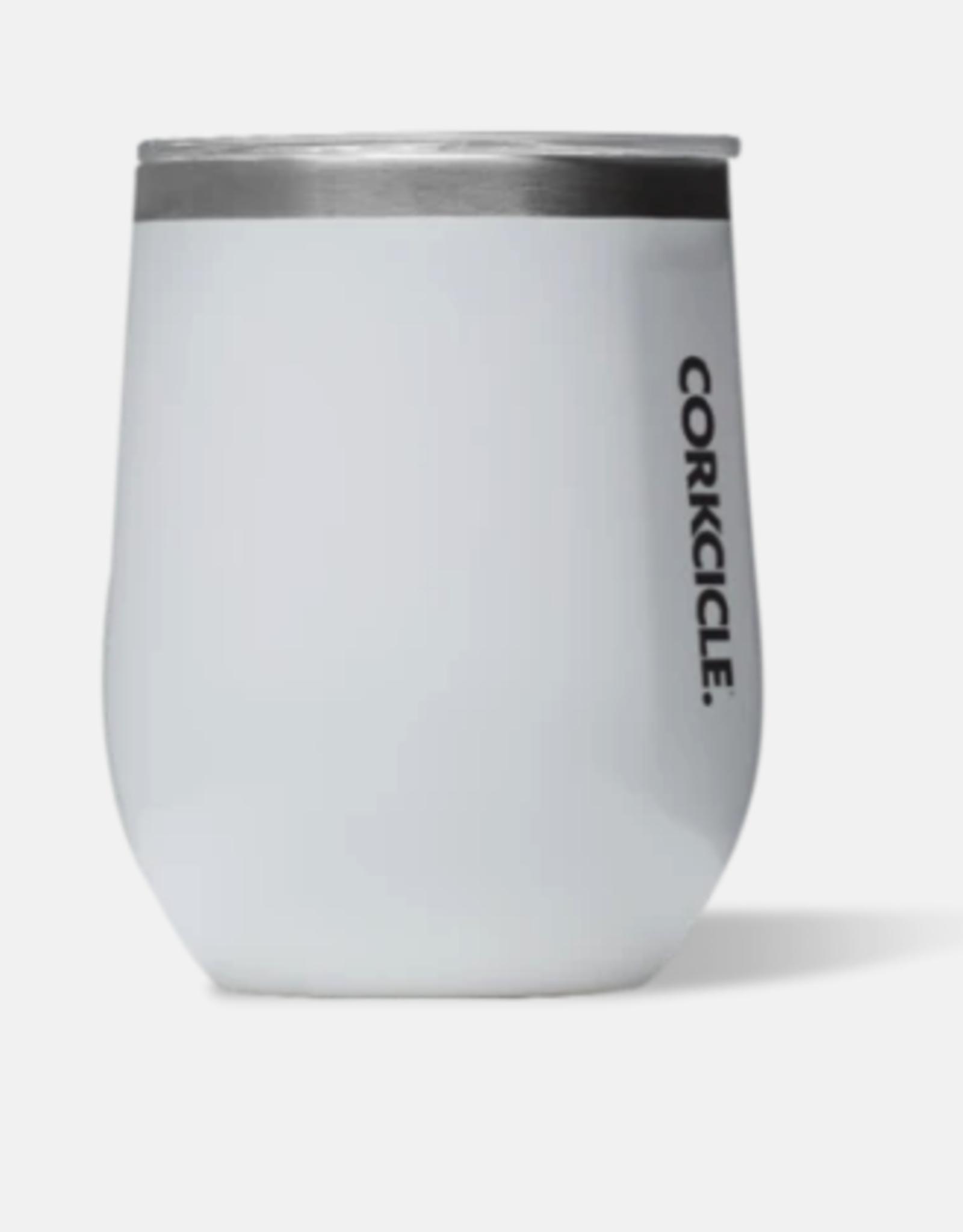 Corkcicle Corkcicle - 12oz Stemless Gloss White