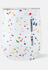 Corkcicle Corkcicle - 12oz Stemless Poketo White Terrazzo