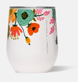 Corkcicle - 12oz Stemless Rifle Paper - Lively Floral Cream