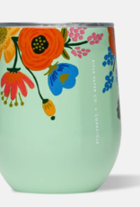 Corkcicle Corkcicle - 12oz Stemless Rifle Paper - Lively Floral Mint