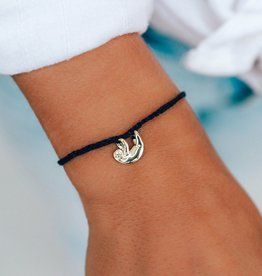 Pura Vida Pura Vida - Charm Bracelet Sloth - Black