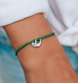 Puravida Pura Vida - Charm Bracelet Sloth - Dark Green