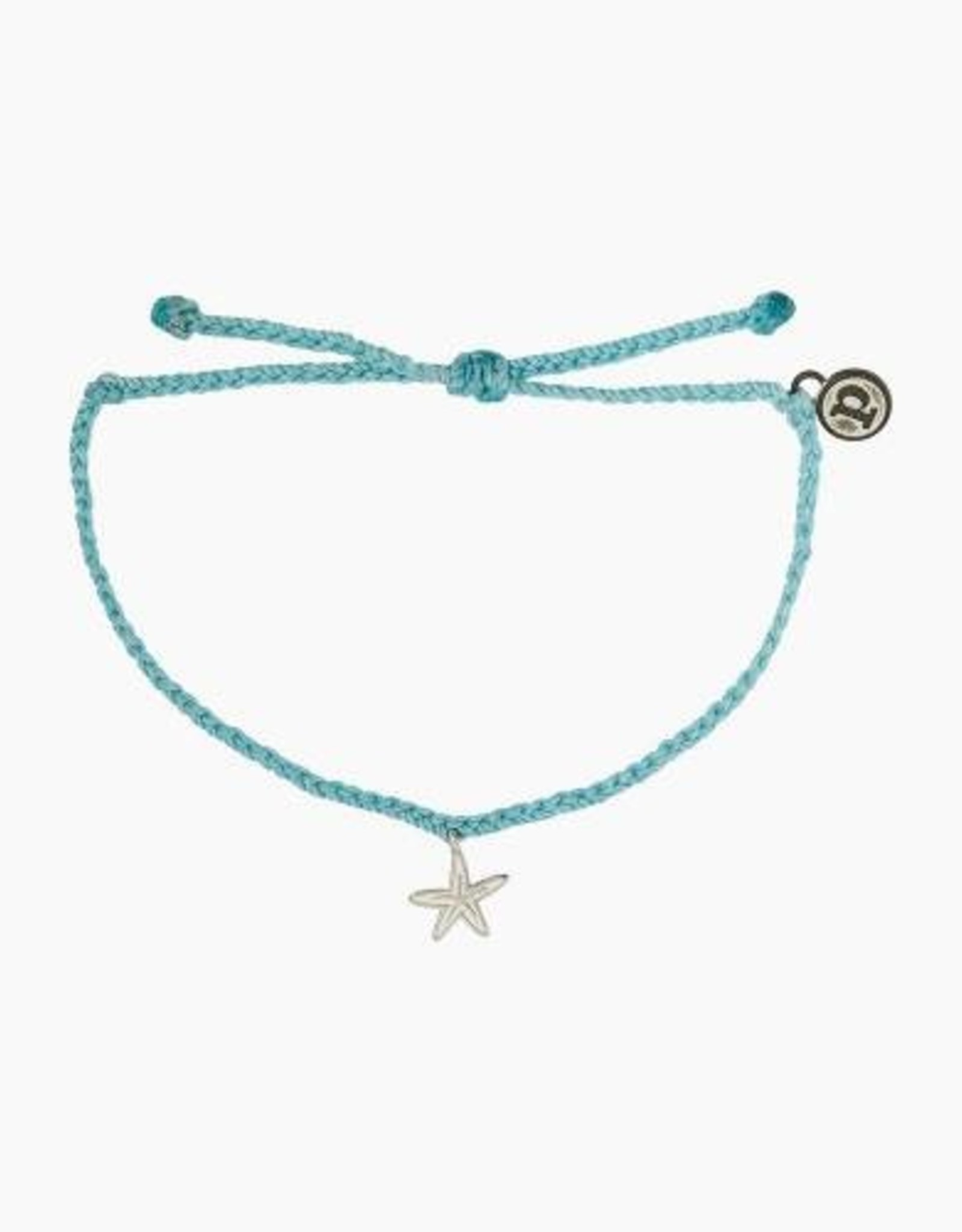 Pura Vida Pura Vida - Charm Bracelet Starfish - Crystal Blue
