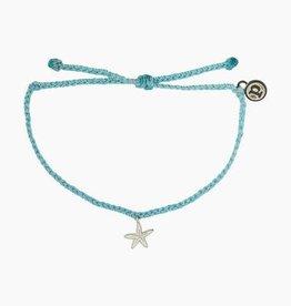 Puravida Pura Vida - Charm Bracelet Starfish - Crystal Blue