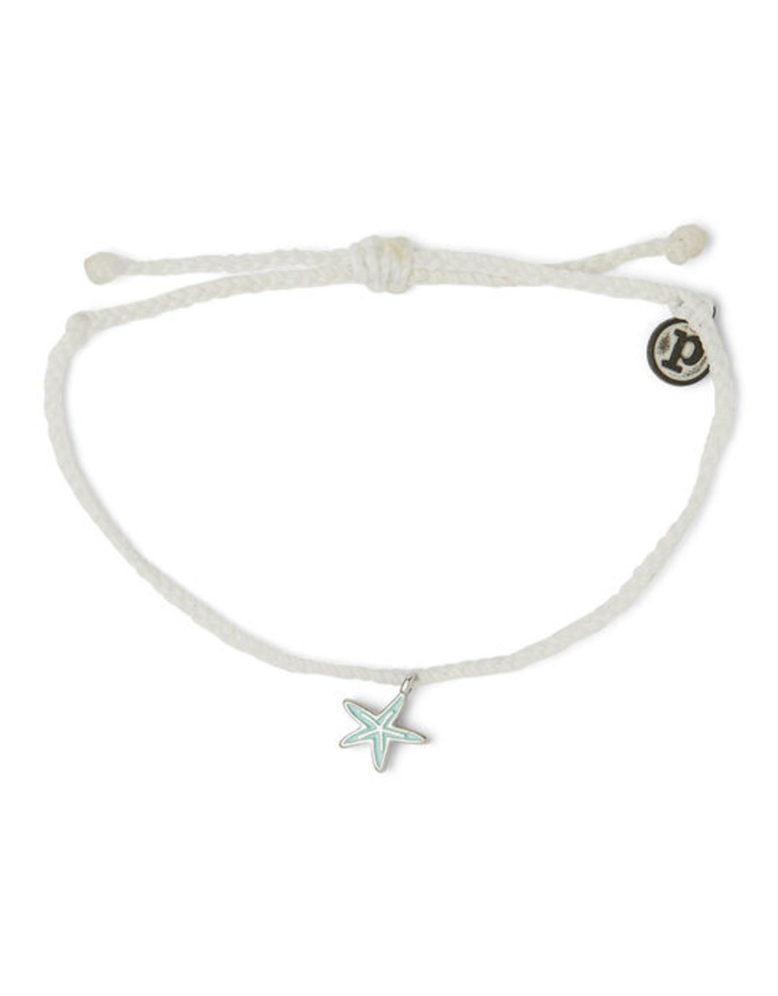 Puravida Pura Vida - Charm Bracelet Starfish - White