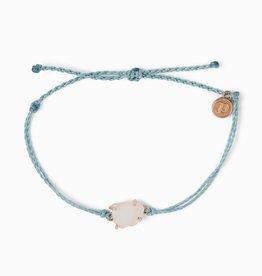 Puravida Pura Vida - Charm Bracelet Seaglass - Smoke Blue