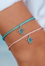 Pura Vida Pura Vida - Charm Bracelet Sea Turtle - Crystal Blue