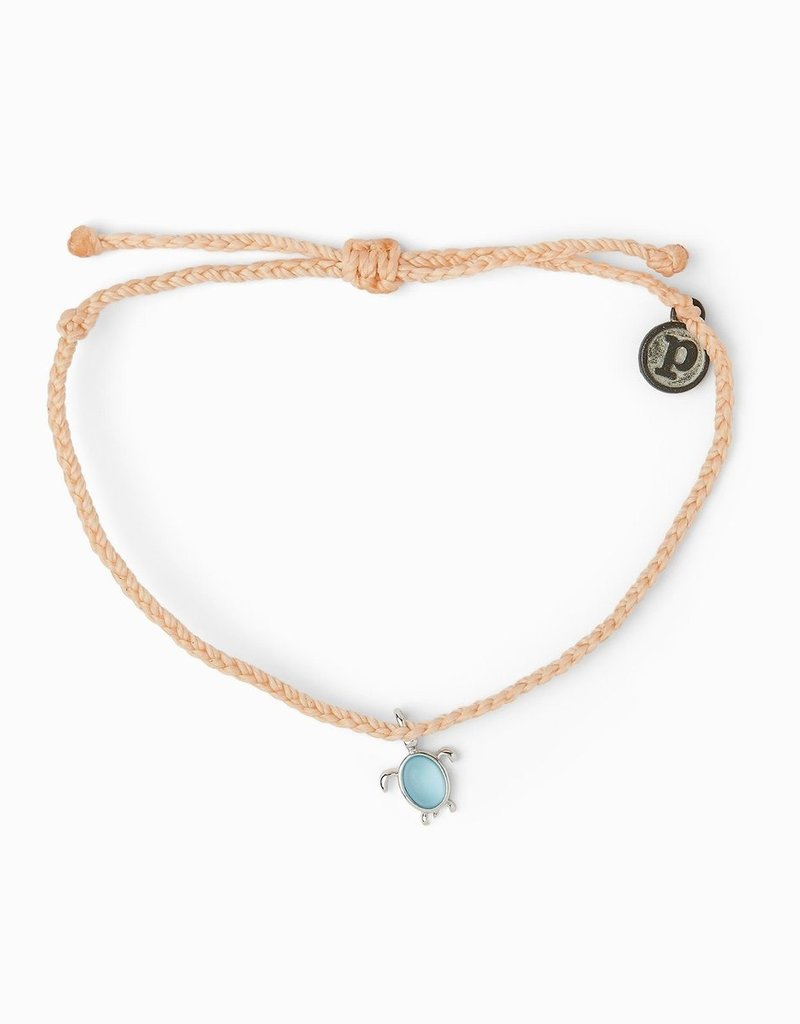 Puravida Pura Vida - Charm Bracelet Sea Turtle - Blush