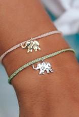 Pura Vida Pura Vida - Charm Bracelet Elephant - Doublemint